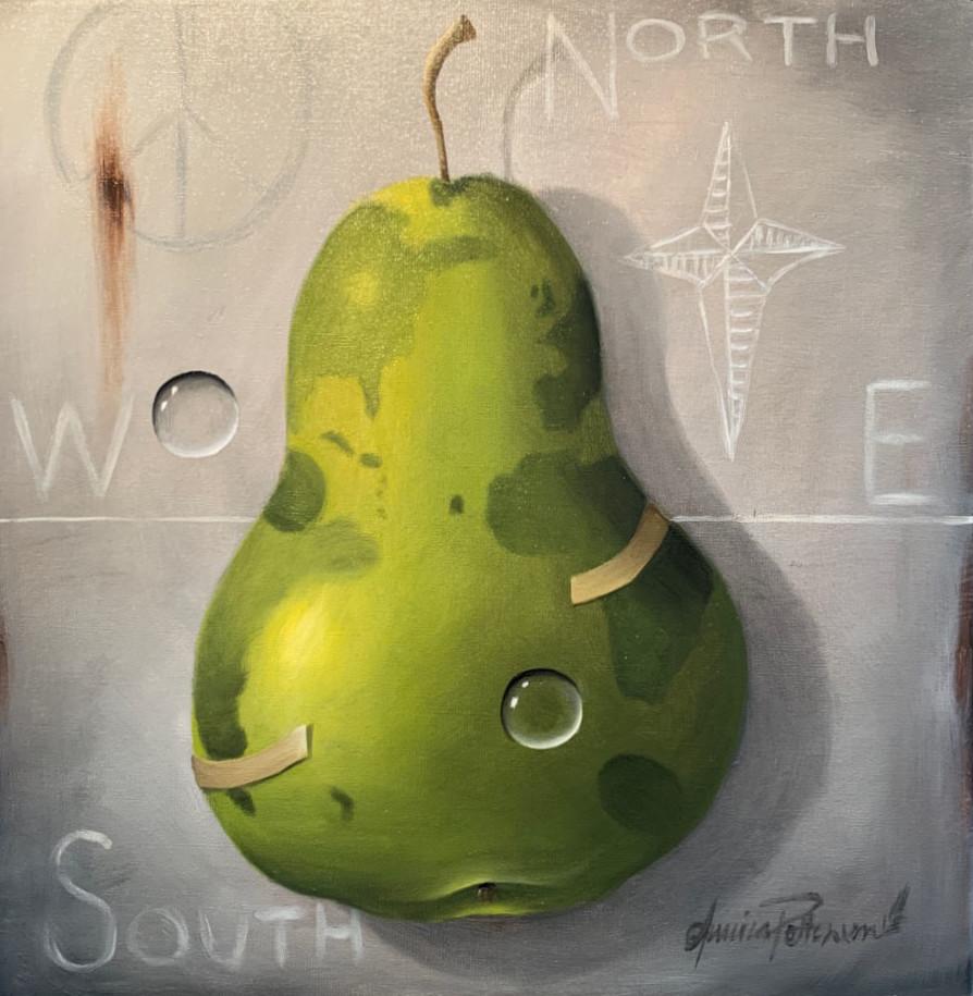 Fruktsam värld 50x50cm