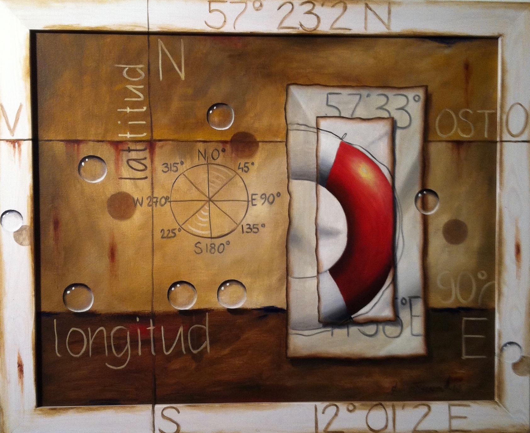 """Mindfulness/Livboj"" (Oljemålning 73x92 cm)"