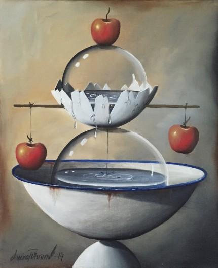 """""""Jämnvikt """" (Oljemålning 72x63 cm)"""